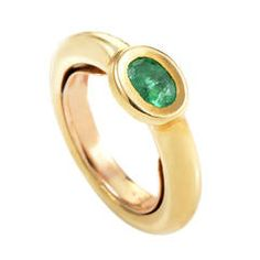 Chaumet Emerald Yellow Gold Ring