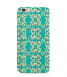 Yellow Swirl Ornament Abstract Seamless 3D Iphone Case for Iphone 3G/4/4g/4s/5/5s/6/6s/6s Plus - ABSTSEAM0025 - FavCases