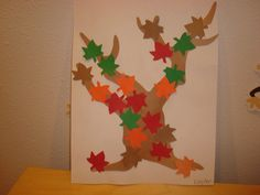 "When you tell a toddler to make a tree that has ""fall leaves"", they will 1. put all the leaves at the bottom because you said they were ""falled leaves"", 2. cover the entire tree like shown.  However, not one child will place the leaves on the top of the tree and leave the tree trunk free of leaves :)"