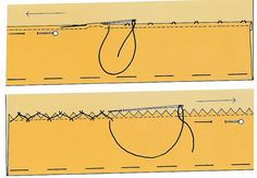 Hemming Stitches - Hand Sewing - In the mood for Couture Sewing Hacks, Sewing Tutorials, Sewing Tips, Techniques Couture, Sewing Techniques, Hem Stitch, Hand Sewing, Stitches, Cap