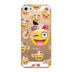 Phone Case Cover For iPhone 5 5S SE Ultra Soft Silicon Transparent Cute Fashion Girl Animals Emojio Patterns Mobile Phone Bag