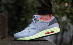 Nike Air Max 1 FB Wolf Grey Liquid Lime Pink is the newest Air Max 1 Fb to release.