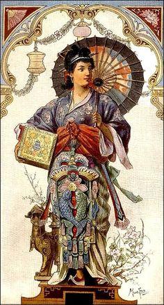 China Alphonse Mucha
