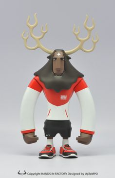 Nike Running Horns vinyl toys by UpTempo Lee Toy Art, 3d Figures, Vinyl Figures, Vinyl Toys, Vinyl Art, Design 3d, Japanese Toys, 3d Character, Simple Character