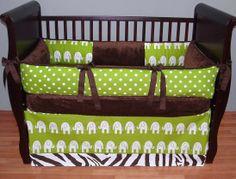 baby bedding elephant | Drew Baby Bedding