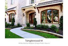 Tanglewood M White Mortar Medium Smear Technique View D Exterior House Colors, Exterior Design, White Wash Brick Exterior, Brick And Wood, Whitewashed Brick, Thin Brick, Brick And Stone, Brick Wall, Light Brick