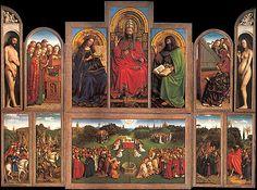 Ghent Altarpiece, Jan & Hubert van Eyck, Cathedral of Saint-Bavo, Flanders, Belgium, 1432