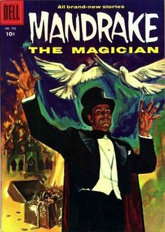 Mandrake the Magician Golden Age Comics Comic Book Covers, Comic Books Art, Comic Art, Book Art, Vintage Comics, Vintage Posters, Magic Illusions, Midtown Comics, Silver Age Comics