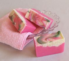 English Tea Rose Homemade Soap - it's definitely an art making soap.