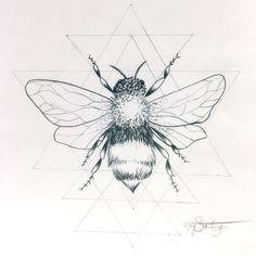 """Next tattoo idea for me? I think yes. #honeybee #beetattoo #honeybeetattoo…"