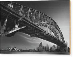 Harbor Bridge, Sydney Harbour Bridge, Bridge Tattoo, Australian Photography, Akira, Wood Print, Photo Puzzle, Photographic Prints, Profile