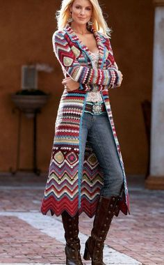 Crochet coat, free pattern