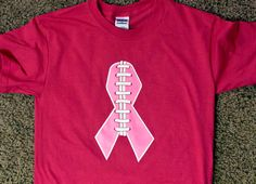 Pink Breast Cancer Football TShirt by milemu23 on Etsy, $17.00