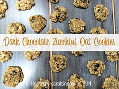 Dark Chocolate Zucchini Oat Cookies -- #healthycookies #cookies http://a-life-from-scratch.com/zucchini-oat-cookies/