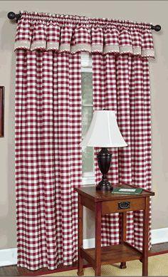 Affordable buffalo check curtains.