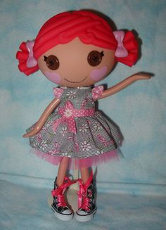 "New Cap Sleeve Dress Sewing Clothes Pattern Only for 12"" Lalaloopsy Doll No Doll 
