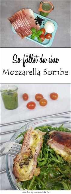So einfach machst du eine Mozzarella Bombe! Sie ist das perfekte Abendessen. #lowcarb #MozzarellaBombe
