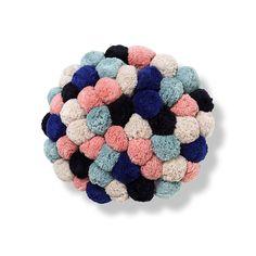 ARRO Home: Knit Cushion with pom poms