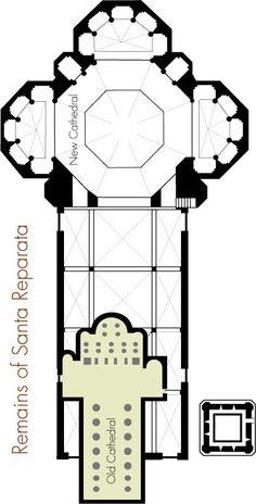 План церкви Санта Репарата, вписанный в построенный собор.