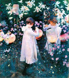 John Singer Sargent, Carnation, Lily, Lily, Rose (1885-1886)