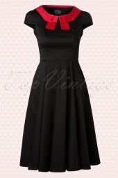 Hearts and Roses Black Red Swing Dress 102 10 13533 20140617 0010W