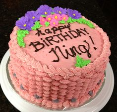 Chocolate cake with raspberry buttercream frosting