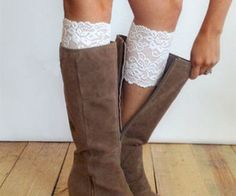 All Lace Boot Cuff