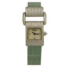 Piaget Lady's White Gold and Diamond Miss Protocole Wristwatch | From a unique collection of vintage wrist watches at https://www.1stdibs.com/jewelry/watches/wrist-watches/