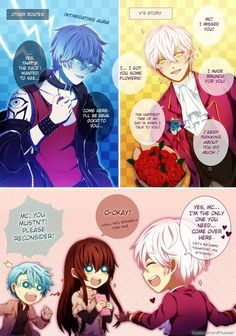 Mystic Messenger- Mc, Ray, and Choi Saeran (Unknown) #Otome #Game #Anime. Susanghan Messenger