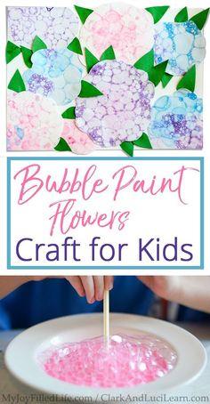 Bubble Paint Flowers Craft for Kids