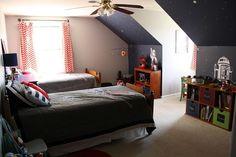 star wars bedroom for boys | Sawyer's Star Wars Themed Bedroom {Primitive & Proper}