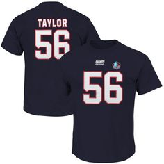 Lawrence Taylor New York Giants Majestic Hall of Fame Eligible Receiver II Big & Tall Name & Number T-Shirt - Navy - $37.99
