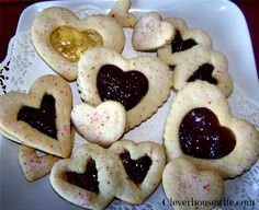Jam-filled Valentine's Day Heart Cookies