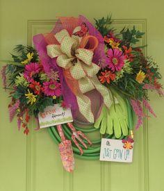 Garden Hose Wreath Design