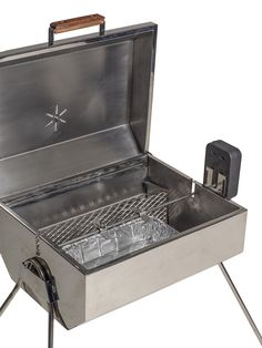 Fully Stainless Steel Portable Barbeque with facility to do rotisserie cooking, baking, grilling. You can even make pizzas or cakes in this convection cooker