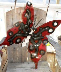 pretty butterfly yard art