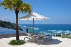Latitude Villa in Uluwatu features the stunning vista of Indian Ocean, a perfect backdrop for your holy matrimony