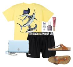 """""""Today we're hitting up-key west"""" by highheel-hannah ❤ liked on Polyvore featuring Guy Harvey, Under Armour, Birkenstock, Tory Burch, BERRICLE, Too Faced Cosmetics and Essie"""