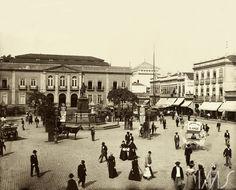 Marc Ferrez. Largo de São Francisco de Paula. c. 1895. Rio de Janeiro. Brasiliana Fotográfica