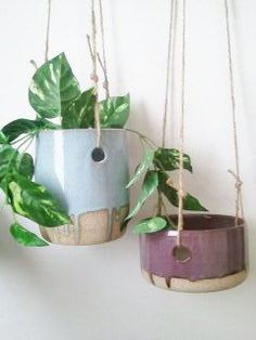 Medium 3-Hole Hanging Planter. $35.00, via Etsy.: