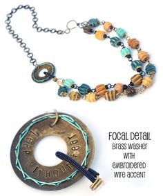 Marsha Neal Beads - Kerry Bogert Jewelry... Aug/Sept Color Canvas in Step By Step Wire Jewelry