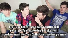 Imagine Jc and Nash liking you while you're dating Cam