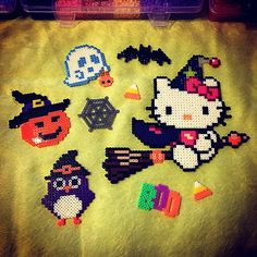 Halloween  perler beads by tamagotchi717