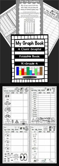 What a fun way for your students to practice the fine motor skills of folding, cutting, and coloring, while reinforcing the mathematical graphing concept. (K-Grade 4)