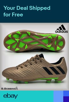 sale retailer 0081a faf7f Adidas MESSI 16.1 FG Copper Football Boots Boys Girls Size UK 10 3 3.5 4  4.5 5