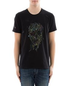 ALEXANDER MCQUEEN ALEXANDER MCQUEEN MEN'S  BLACK COTTON T-SHIRT. #alexandermcqueen #cloth #