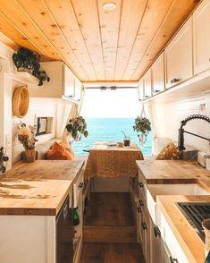 Living In A DIY promaster Camper Van Over Paying Apartment Rent - Gorgeous Custom Design. Van Conversion Interior, Camper Van Conversion Diy, Bus Life, Camper Life, Campers, Bus Living, Tiny Living, Do It Yourself Camper, Camper Van Kitchen