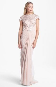 Tadashi Shoji Embellished Draped Gown available at #Nordstrom