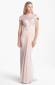 Tadashi Shoji Embellished Draped Gown | Nordstrom