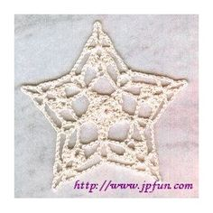 Star in a Star Ornament -- A pattern from the library of the JPF Crochet Club